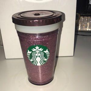 Hand made glitter Starbucks cup